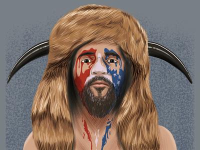 Sad QAnons inauguration digital paiting digital art conceptual funny conspiracy usa politics editorial portrait brush artwork illustration