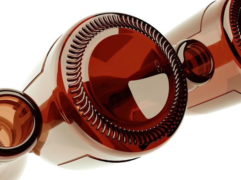 Tops&Bottoms cinema4d packaging beer bottle reflections light texture glass render 3dartist 3dart 3d design artwork illustration
