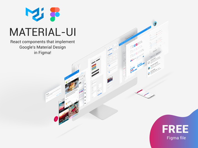 Material-UI: React components in Figma - Free Download design ui free figma react component design system material components react material ui material design