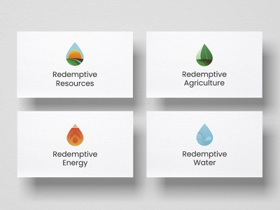 Main brand and subbrand logotypes logos energy water agriculture resources nature branding concept brand branding design branding illustration logo design logotype logo
