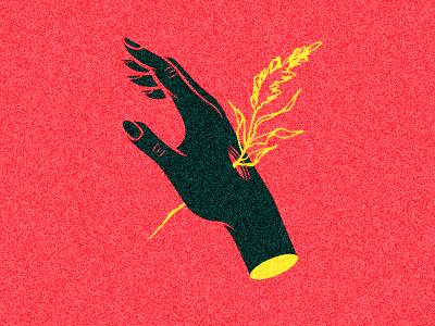 an immemorial sap arm wilted sap love dead flower hand vector
