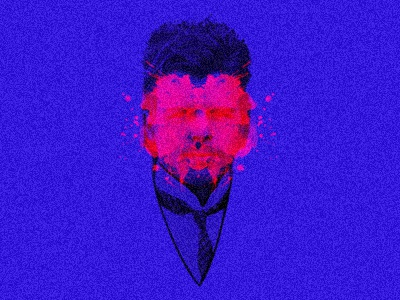 h e r m a n n hbd psychology ink test neon splatter splat ink ink blot hermann rorschach