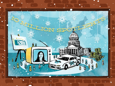 OCNA End of Year Card Illustration hand drawn winter illustration illustration