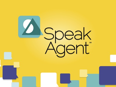 Speak Agent Logo and Palette speech bubbles branding logo