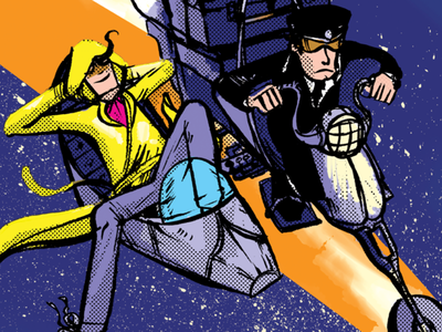 Randy Babylon in Penguin Derby sci fi surreal science fiction webcomics comics