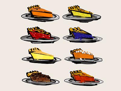 Pie is the best fan art friday fan art dessert food illustration food pie