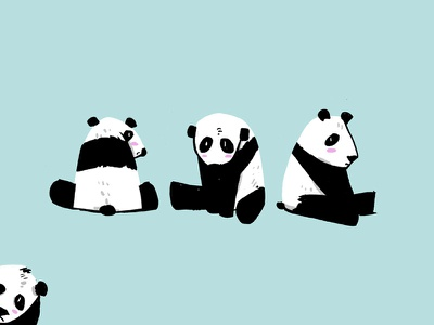 An Embarrassment of Pandas adorable cute animal group animals pandas