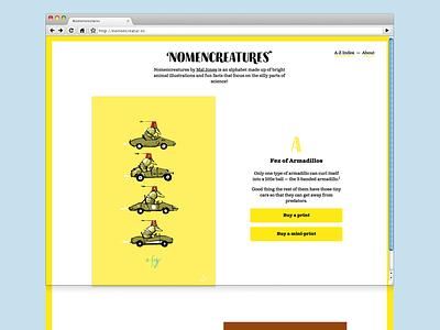 Nomencreatures Website v2