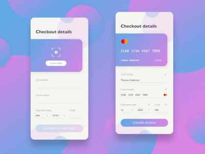 DailyUI challenge #002 ux design ux ui ux uidesign ui design appdesign payment card check out checkout app ui design dailyui 002 dailyuichallenge daily ui dailyui