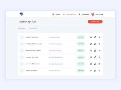 Live App - Back office Dashboard form agency design saas xd dashboard design dashboard ui