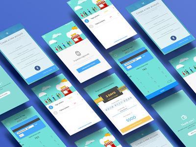 Cashless Mobile App mobile app mobile xd creative ux ui app