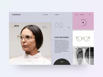 Kuboraum sunglasses fashion brand fashion product minimalism layout ux typography web design uidesign graphicdesign ux design webdesign minimal ui concept colors inspiration