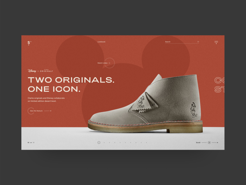 Clarks Originals page concept branding design ecommerce graphicdesign graphic webdesign concept web design minimal website inspiration colors ux design design branding web