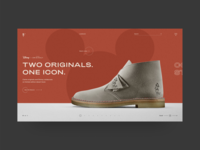 Clarks Originals page concept