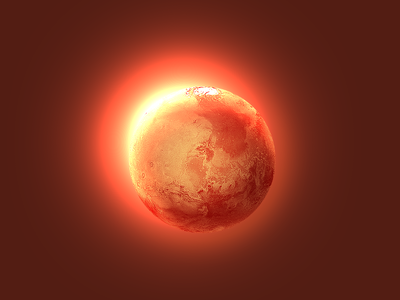 One Layer Style Mars mars planet layer style