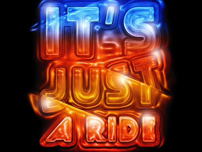 It's Just a Ride layer style typography retro colorful lettering typo billhicks