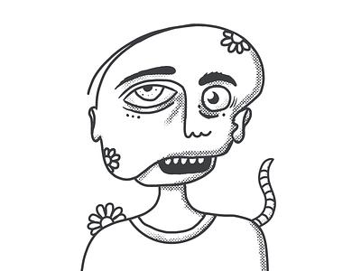 Mutant sketch linework creature deformation mutant spooky creepy