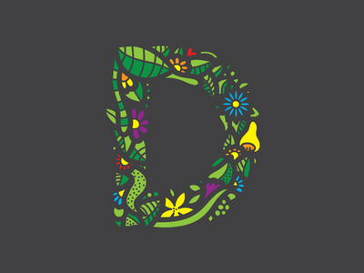 D typography nature leafs flowers c 36daysoftype 2d