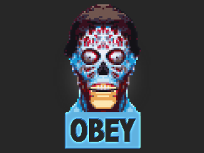 They Live Obey pixel art they live pixel 1988 obey alien