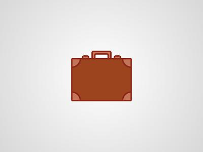 Flat Briefcase brown briefcase icon flat