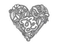 K - L Heart Monogram