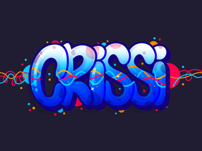 Crissi urban art lettering graffiti urban