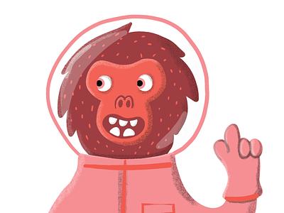 Monkey monkey astronaut cosmomonkey