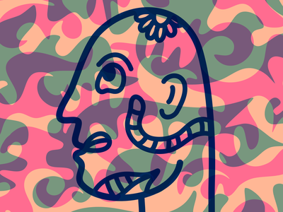 Face camouflage camo face