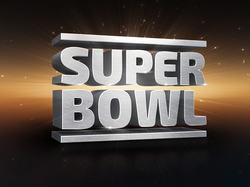 Super Bowl 3D Render super bowl 3d 3d render rendering 3d text 3d typography