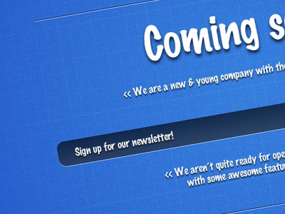 Coming Soon Blueprint coming soon page landing page web design blueprint theme