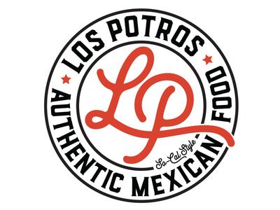 Los Potros Taco Shop Branding