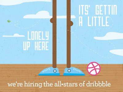 We're Hiring the All-Stars of Dribbble