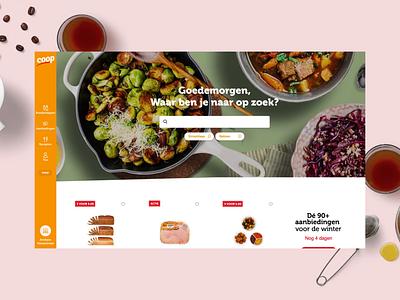 Coop Supermarket motion webdesign branding strategy ux