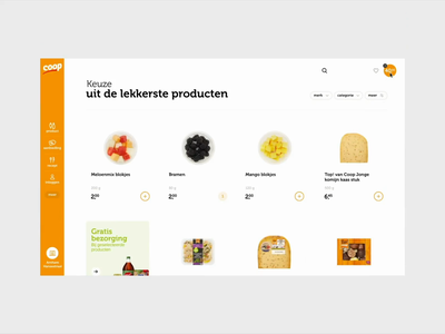 Coop Supermarket strategy motion concept branding webdesign ui ux