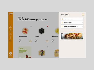Coop Supermarket concept mockup motion strategy branding webdesign ui ux