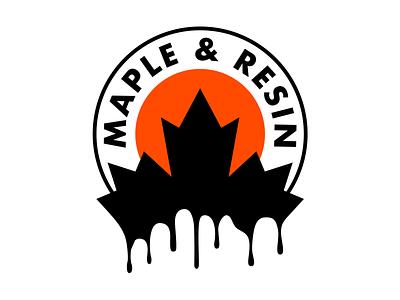 Maple & Resin skateboarding branding illustration logo