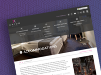 San Francisco Hotel Page Design