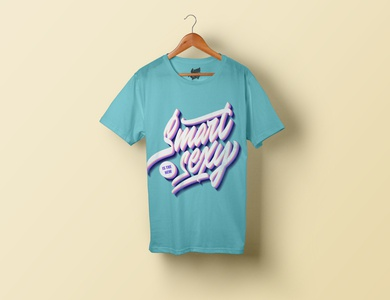 "Lettering ""Smart is the new sexy"" for t-shirt printing"