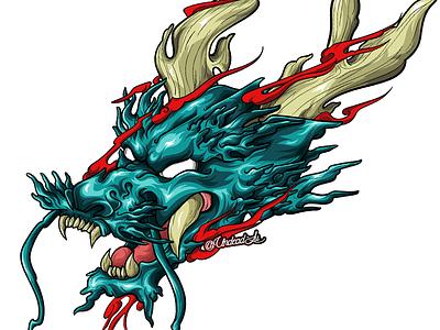 Dragon T-shirt Design - Adobe Illustrator japanese irezumi adobe tshirt art tshirt design tshirt dragon illustrator design vector animal flash tattoo lineart digital art tattoo artist art design tattoo design tattoo art tattoo illustration