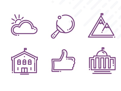 Frontline Icons | Part 3 mountain ping pong cloud school line icon icon set icon email education