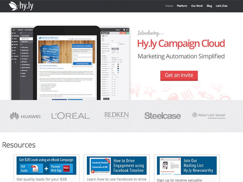 Hyly campaign cloud website