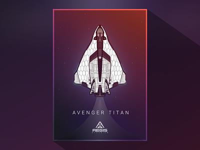 Avenger Titan Vector stars vector illustration star citizen space ship