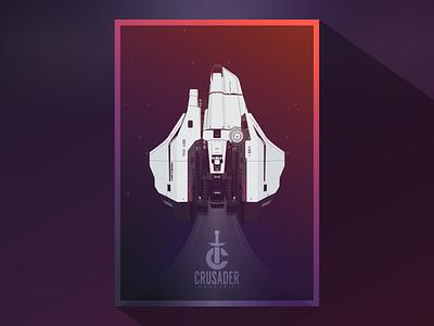 Mercury Star Runner poster stars spaceship space figma vector illustration poster illustration star citizen vector art