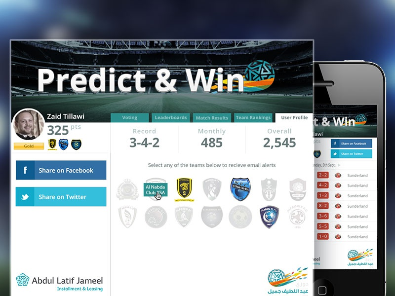 Football Prediction Contest by Drew Griffith on Dribbble