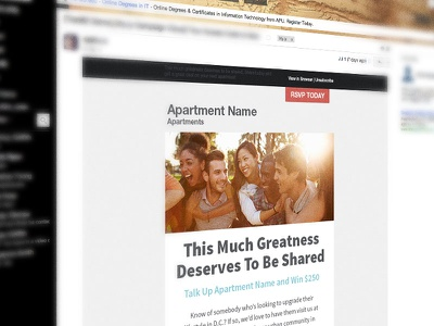 Apartment Newsletter Template apartment email newsletter apartments multi-family housing
