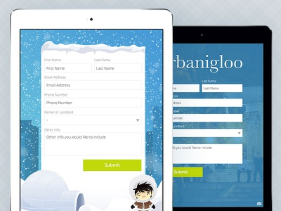 Urbanigloo Landlord Signup Form signup form apartment landlord snow ipad leasing lease
