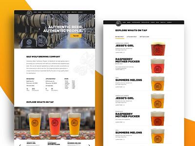 Badwolf Brewing Company responsive website beer brewery