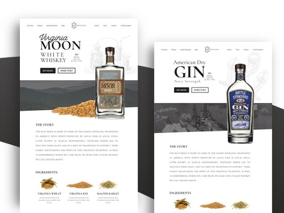 Distillery Product Page website product whiskey gin liquor distilling distillery