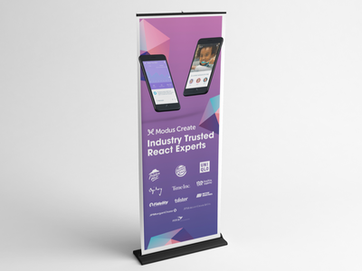 Modus React Banner Stand stand bannerstand banner conference