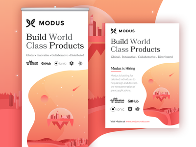 Modus Banner Stand and Flyer react ionic angular github future flat flyer banner stand banner modus remote